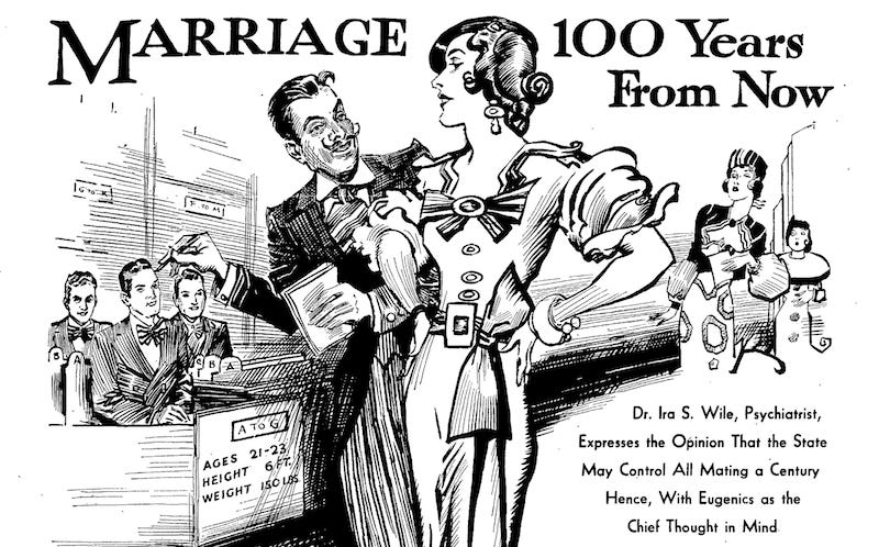 Illustration for article titled Marriage 100 Years From Now (1933)