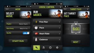 Illustration for article titled Cruise Control: Run Automatically Matches Music to Your Running Pace