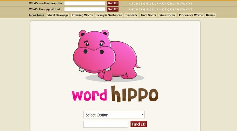 Illustration for article titled WordHippo Finds the Right Word You're Looking For