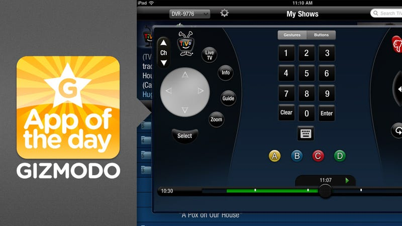 Illustration for article titled TiVo iPad Remote