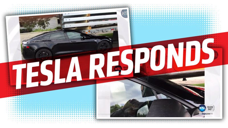 Illustration for article titled Tesla Blames Owner For 'Self-Driving' Wreck But Maybe Interface Is A Problem Too