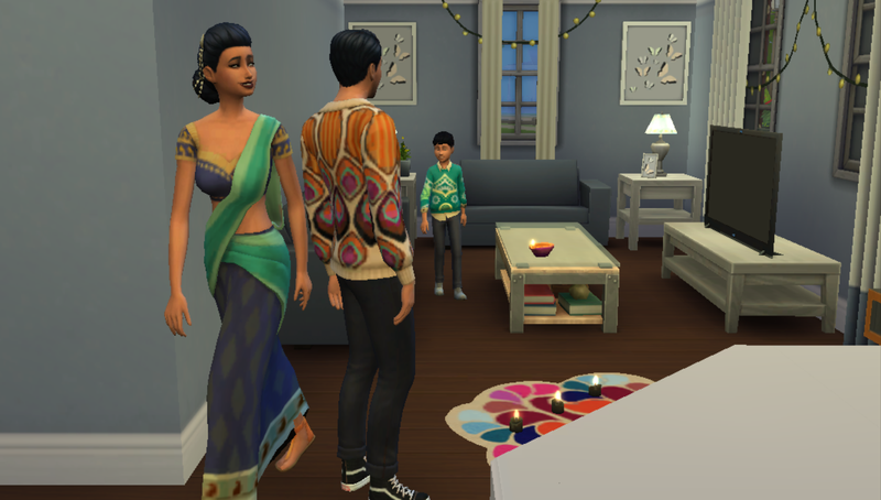 Illustration for article titled The New Sims Diwali Decorations Inspired Me To Finally Celebrate The Holiday