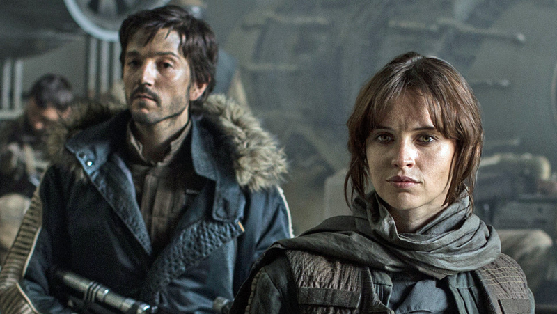 Two of the protagonists of Rogue One.