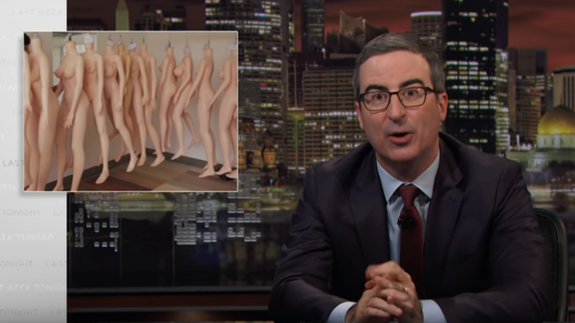 Sex dolls and human trafficking: John Oliver shows what happens when men rule reproductive rights