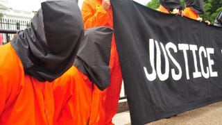 Anti-torture activists demonstrate June 23, 2011, in front of the White House in Washington, D.C.KAREN BLEIER/AFP/Getty Images