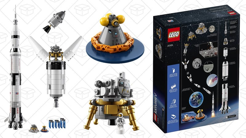LEGO Apollo Saturn V | $81 | Barnes & Noble | Promo code F4W4A8A. Take $5 off every $25 spent on toys, plus extra 20% with code F4W4A8A.