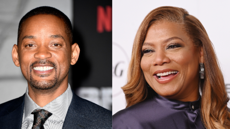 "(L-R): Will Smith arrives at the Premiere Of Netflix's ""Bright"" on December 13, 2017 in Westwood, California. ; Queen Latifah attends Tribeca Talks and the Premiere of The Queen Collective Shorts - 2019 Tribeca Film Festival on April 26, 2019 in New York City."