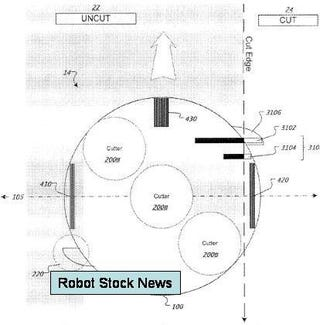 Illustration for article titled iRobot Patent Filing Hints at Lawn Mowing Robot Update