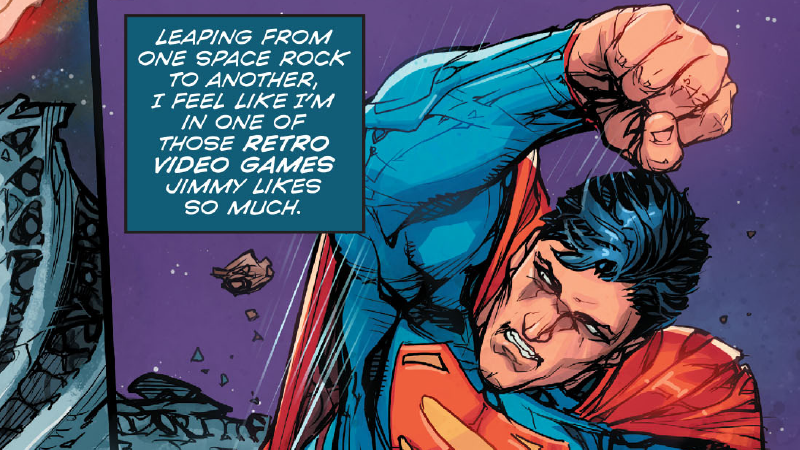 Illustration for article titled Superman Says Some Ridiculous Things in Today's Superman Comics, and I Love It