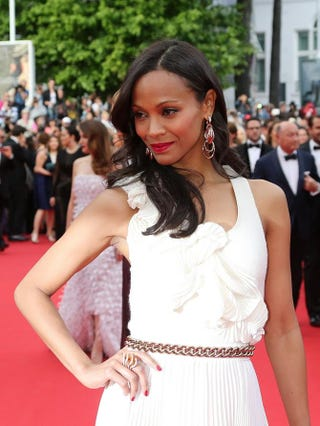 Zoe Saldana at the Cannes Film Festival in France May 14, 2014LOIC VENANCE/AFP/Getty Images