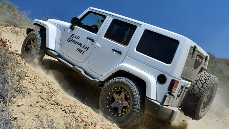 Illustration for article titled 2014 Jeep Wrangler Unlimited: Off-Road Tested On Nitto's New Dirt Tires