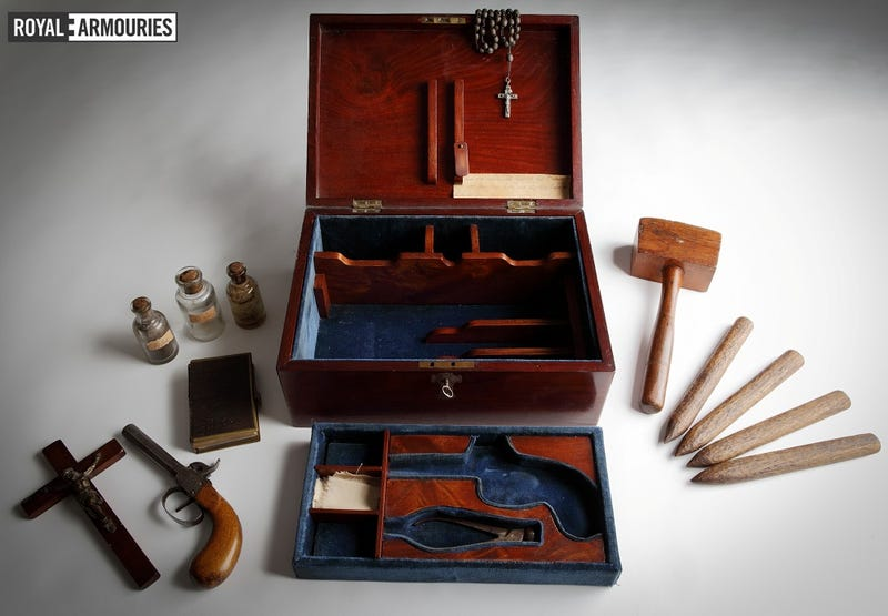 """Illustration for article titled The True Story Behind Those """"Antique"""" Vampire Hunting Kits"""