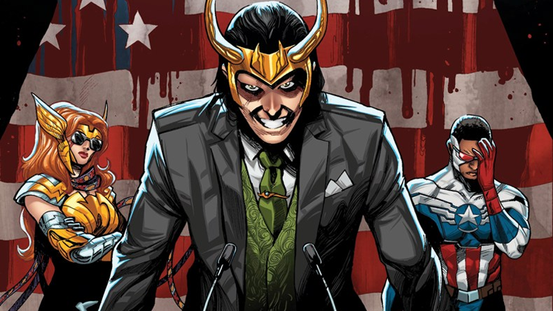 Illustration for article titled Loki Is Running for President in Marvel's New Comic
