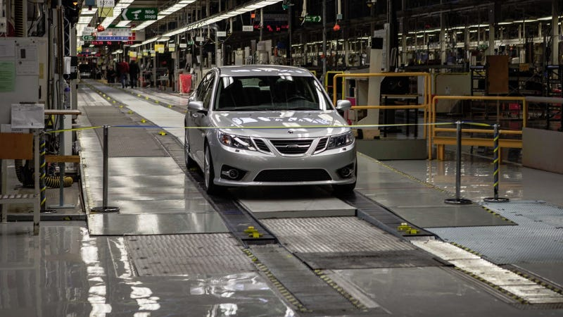 Illustration for article titled The First New Saab Just Rolled Off The Assembly Line In Sweden