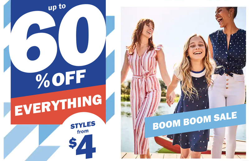 Up to 60% Everything | Old Navy