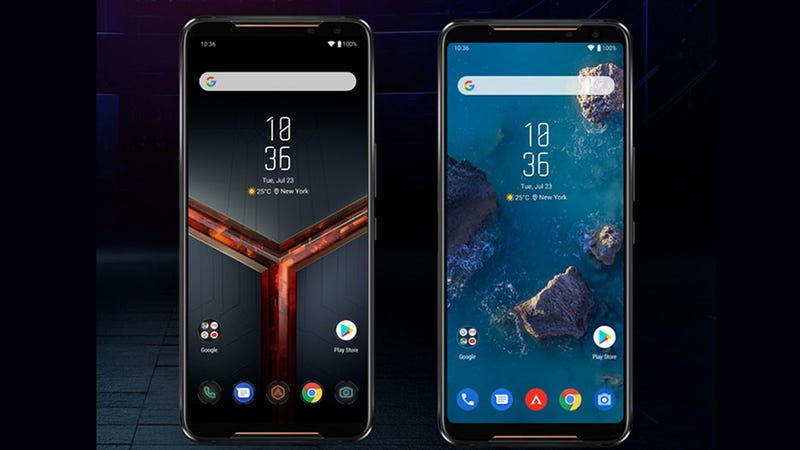 On the ROG Phone 2, Asus will even let you choose between a more gamery UI for Android like you see on the left, or something much closer to stock Android 9 like you see on the right.