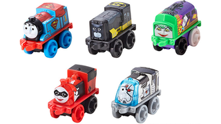 Illustration for article titled DC Heroes Mixed With Thomas The Tank EngineIs A Most Delightful Horror
