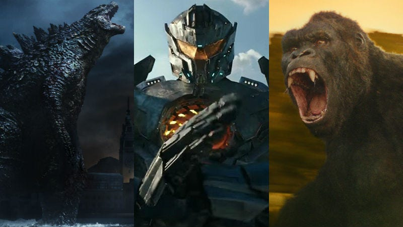 Illustration for article titled A King Kong-Godzilla-Pacific Rim Movie Is Within the Realm of Human Possibility