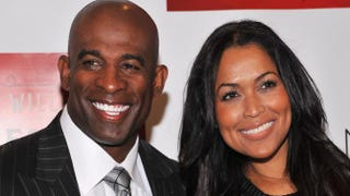 Deion Sanders and Tracey EdmondsFernando Leon/Getty Images