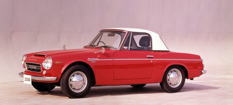 A beep beep little car Datsun Fairlady 200. Photo Credit: Nissan Heritage Archives