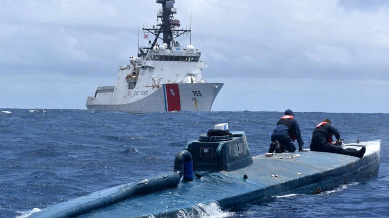 Illustration for article titled The US Coast Guard Caught This Cocaine-Smuggling Semi-Submersible