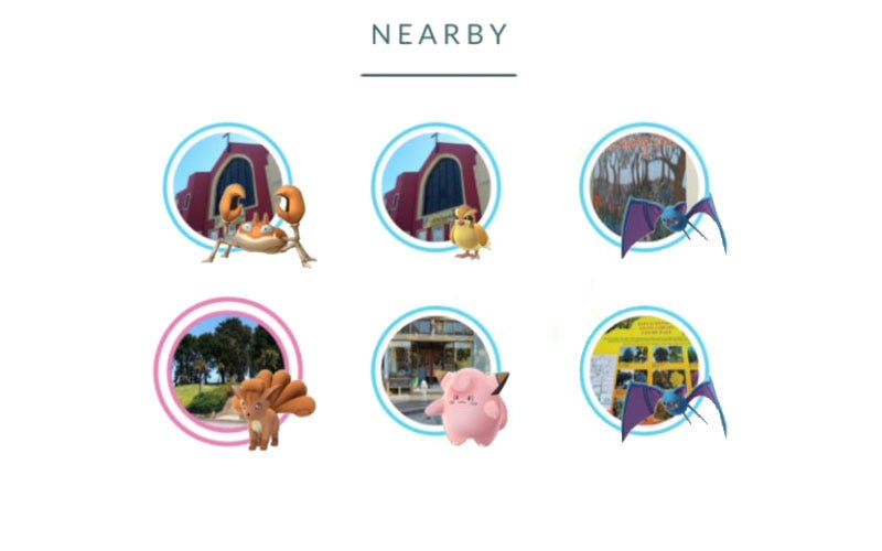 Illustration for article titled Niantic Is Testing A New 'Nearby' System ForPokémonGo [UPDATES]