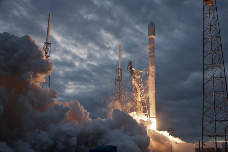 Image of a previous Falcon 9 rocket launch (which may or may not have happened) back in 2014 / SpaceX