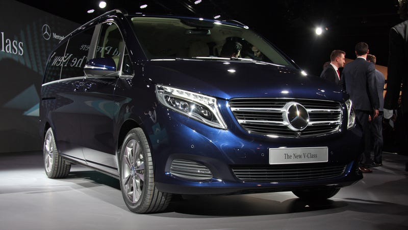 Illustration for article titled The New Mercedes-Benz V-Class Is The S-Class Of The Minivans