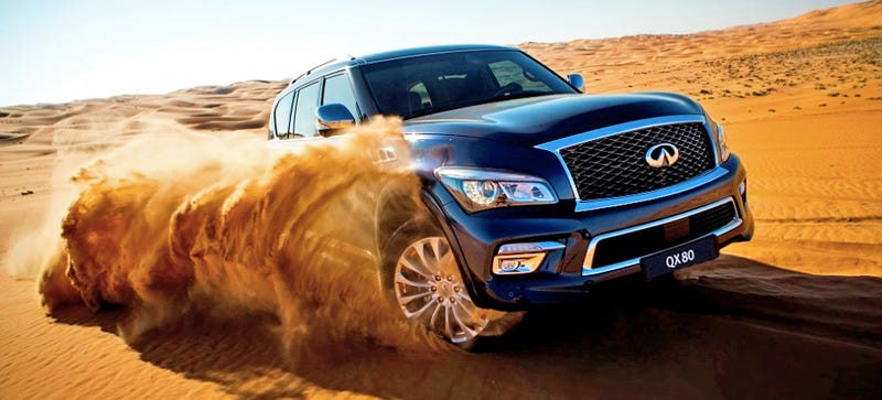 Illustration for article titled The Infiniti QX80 Is Like Waking Up On Monday Then Realizing It's Vacation