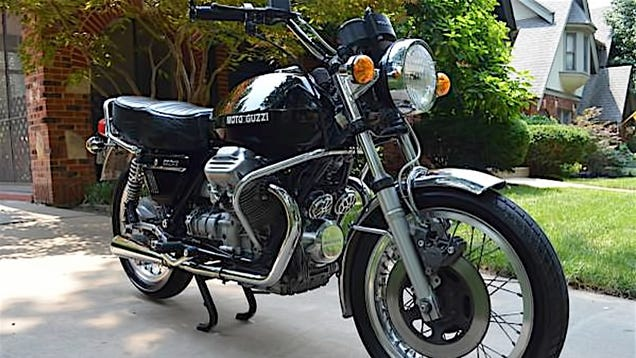 for 5 400 could this 1975 moto guzzi 850 t mean v is for victory. Black Bedroom Furniture Sets. Home Design Ideas