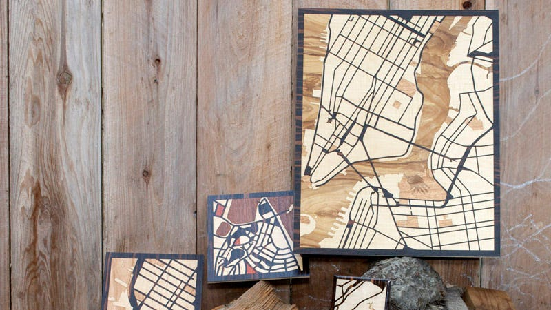 Illustration for article titled Turn Your Favorite Google Map Into a Wooden Work of Art