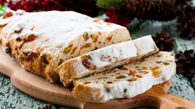 Illustration for article titled Stollen is the German holiday bread that can't shake its fruitcake resemblance