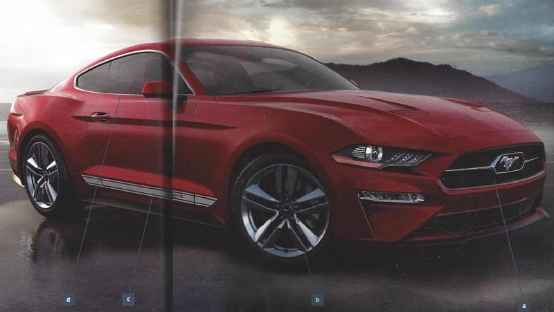 Illustration for article titled This Leaked 2018 Ford Mustang Order Guide Is Full Of Graphic Stripes