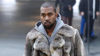 US musician Kanye West arrives to attend Givenchy's Fall/Winter 2014-2015 men's fashion show in Paris on January 17, 2014.   AFP PHOTO FRANCOIS GUILLOT        (Photo credit should read FRANCOIS GUILLOT/AFP/Getty Images)Photo by FRANCOIS GUILLOT/AFP/Getty Images