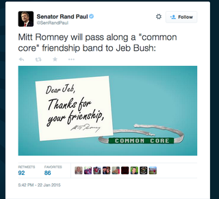 Illustration for article titled Rand Paul Doesn't Know How to Spell 'Friendship'
