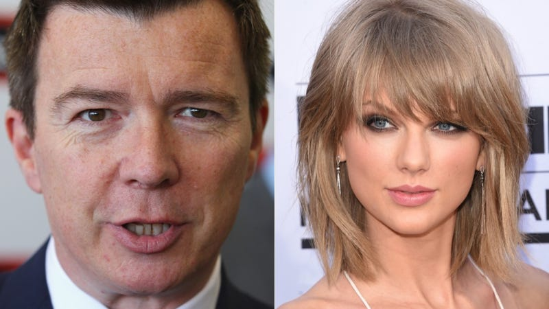 Illustration for article titled Taylor Swift Sounds Like Rick Astley in This 'Blank Space' Remix