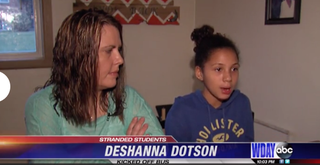 DeShanna Dotson (right) and her mother, Stacy OlsonWDAY Screenshot