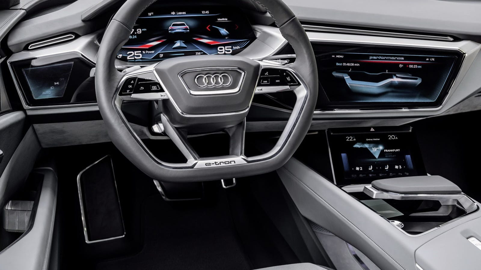 audi 39 s car interior of the future has screens everywhere. Black Bedroom Furniture Sets. Home Design Ideas