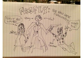 Illustration for article titled Joss Whedon Takes His Doodles To The Next Level, Resurrects Wash