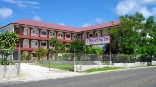 Illustration for article titled Mindszentyről neveztek el középiskolát Palaun, a Csendes-óceánban