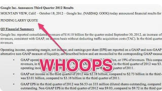 Illustration for article titled Google Spills Earnings Early, Made Way Less Money This Quarter Than Everyone Thought