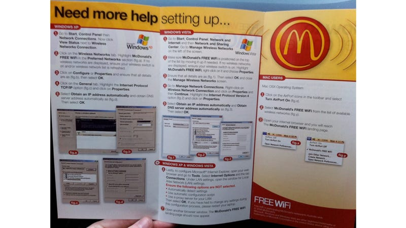Illustration for article titled Not Even McDonalds Can Make Windows Networking Easy