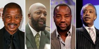 Robert Townsend; Tracy Martin; Malik Yoba; The Rev. Al Sharpton (Getty Images)