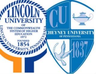 The logos of Lincoln and Cheyney universitiesWikipedia