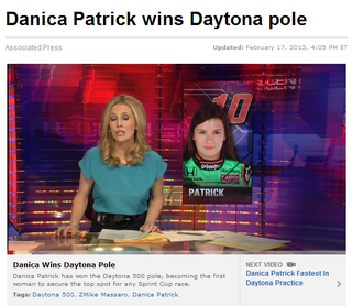 Illustration for article titled Danica Patrick First Honda Driver to Win Pole at Daytona 500