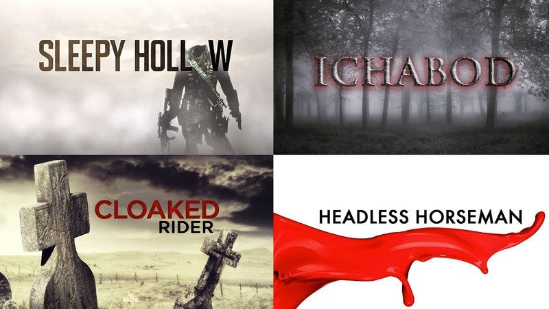 Illustration for article titled TV Showdown Expected As 'Sleepy Hollow' Debuts Tonight Against HBO's 'Ichabod,' TNT's 'Headless Horseman,' Showtime's 'Cloaked Rider'