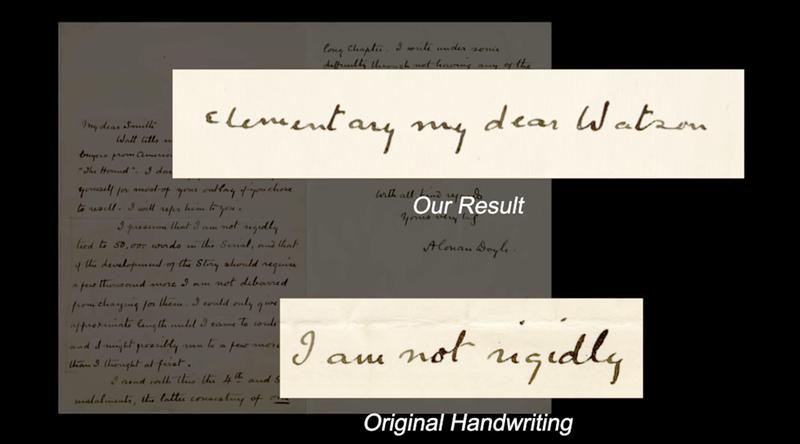 Illustration for article titled Crean un software capaz de imitar la letra de cualquier persona con solo leer una muestra