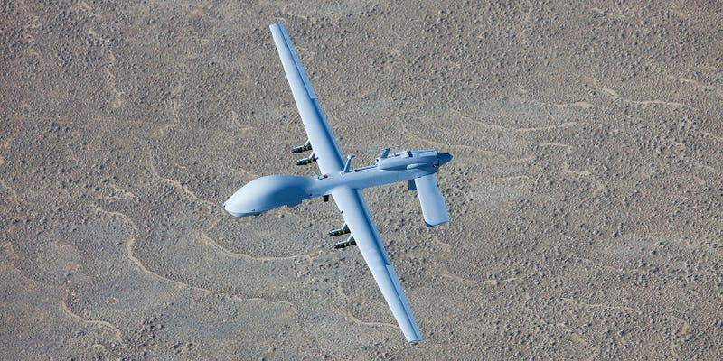 Illustration for article titled Pentagon Confirms That a Gray Eagle Drone Has Been Lost in Iraq
