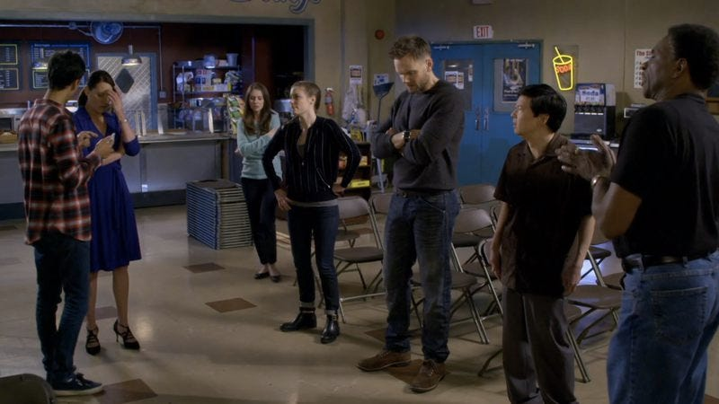 Danny Pudi, Paget Brewster, Alison Brie, Gillian Jacobs, Joel McHale, Keith David