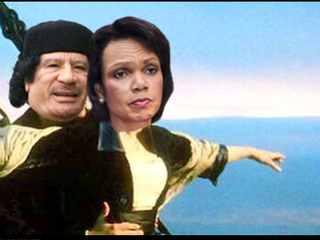 Illustration for article titled VIDEO: Qaddafi's Weird Crush on Condi